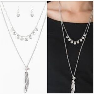 MOJAVA MUSICAL SILVER NECKLACE/EARRING SET